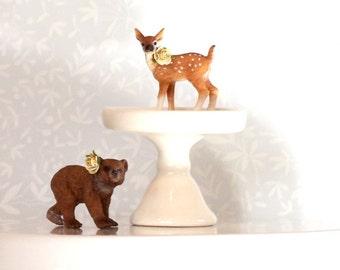 Woodland Baby Shower Cake Topper  Bear Cake Topper  Deer Cake Topper Animal Cake Topper