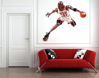 Attractive Michael Jordan Insane Contour Cut Wall Decal Large 24 Inch