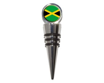 Flag Of Jamaica Wine Bottle Stopper Cork