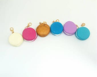 Macaroon travellers notebook charm, polymer clay macaroon, planner accessories, planner gifts, school supplies, stitch marker