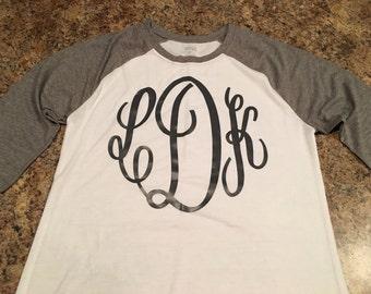 monogram raglan tshirt