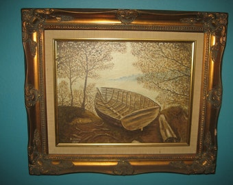 Original Oil Painting by H. Howe 1987 in a Beautiful Gold Frame