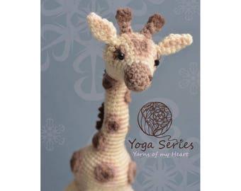 Crochet giraffe pattern, Amigurumi giraffe pattern, giraffe crochet pattern, crochet giraffe on wire