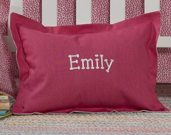 Hot Pink Baby Pillow Sham