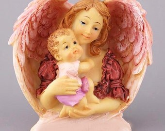 Mother and me Mold Mom with Baby in Angel Wings Mold Mother Day Gift Mold Wonderful Woman and Baby Mold