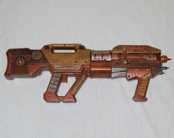 HUGE Steampunk Gun Cosplay Costume Big Prop Post Apocalyptic Weapon with Gears and Found Objects Detailed Hand Painted Apocalypse Toy Gun