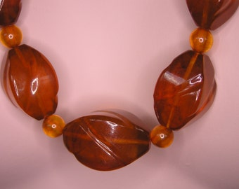 Vintage Russian Baltic Amber Necklace - 68,2g