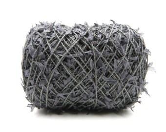 Cotton Linen Paper Yarn - Slate / Textile Art Material / Knitting / Crochet / Yarn for Weaving / Novelty Yarn / Linen Yarn / Warp Yarn  Habu