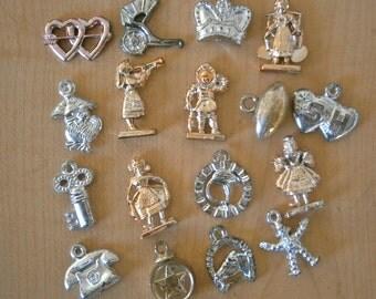 Vintage gumball charms/metallic
