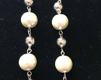 Beaded pearl dangles