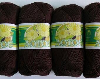 """100% Mercerized Cotton Yarn """"Lotus"""". Set 2 skeins 200g (7 oz)"""
