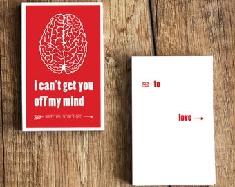 I can't get you off my mind - Funny Valentine's Day Card for Nurses- Download  and Print - Great for doctors, med students, medics