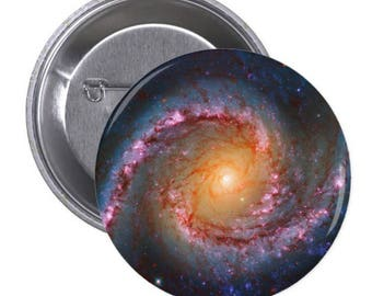"""Spiral Galaxy - 1.5"""" and 2.25"""" Pinback Button"""
