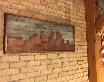 Minneapolis Skyline Wooden Wall Art