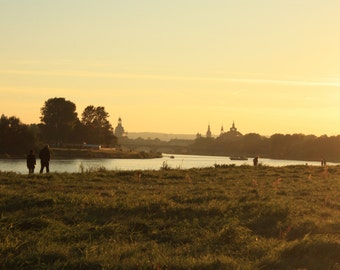 "Photo canvas ""Sunset in Dresden"""
