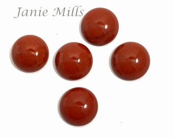 Red Jasper 12 mm cabochon