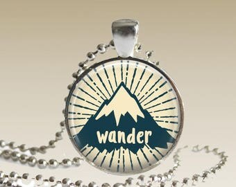 Wander Necklace Wander Pendant Mountain Necklace Gifts for Her Pendant With Mountains