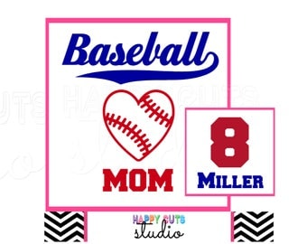 Baseball Mom/Dad Player's / Personalized Name Number Color Matching Family Team Support Parent Sibling Player Iron on Decal