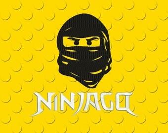 Embroidery design Ninjago  Lego cartoon 2 in 1, 4-5 sizes, download machine