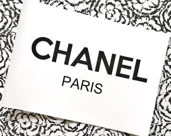 Chanel print, coco chanel, fashion print, wall art, foil prnts