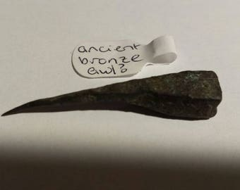 Ancient bronze artifact. Small awl?