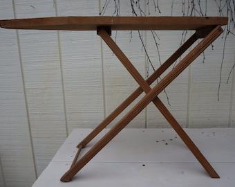 Vintage Wooden Child's Ironing Board ~ Primitive Design ~ Folding