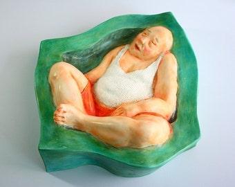 NAP 2,relief sculpture,wall sculpture, artist sculpture, mixed media by RJMstudio1