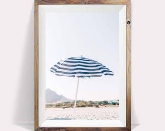 Umbrella Poster,Beach Umbrella Art,Beach Umbrella Photo,Umbrella Photography,Umbrella Large Art,Beach Large Wall Art,Umbrella Wall Decor