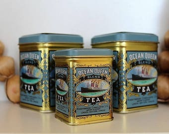 Vintage Tea Tins -  Ocean Queen