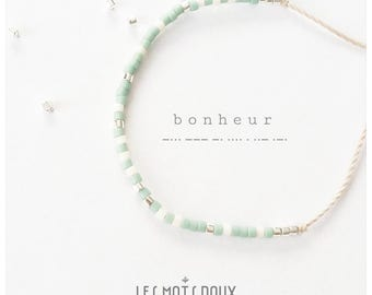 Bracelet, the words sweet, secret message in Morse code - happiness