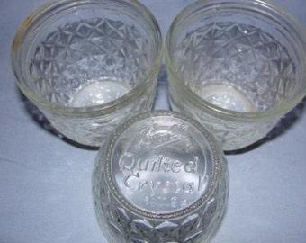 Ball Quilted Crystal Jars (Set of 3) - SKU 1456