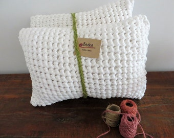 Crochet cushion etsy - Cojines de ganchillo ...