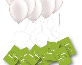"Air balloon cards ""Airmail"" incl. card/balloons/cords (80 PCs.)"