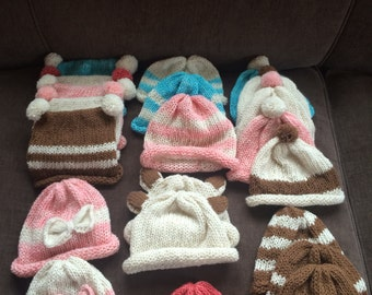 Infant Alpaca Hat with embelishments