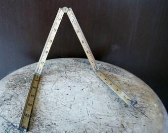 Vintage Lufkin Folding Ruler, Antique Folding Ruler, LUfkin no 48 Rule, Compact Ruler, Measuring Stick, 24 Inches  Folding Ruler
