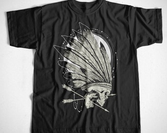 T-Shirt conquerors S-XXL Indian Native American Moon dream catcher streetwear