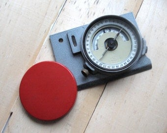 Vintage compass Soviet russian compass Working compass Professional geological compass 1970s