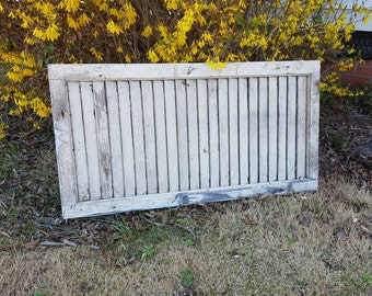 Old antique shabby farm country shutter 30x16 rustic