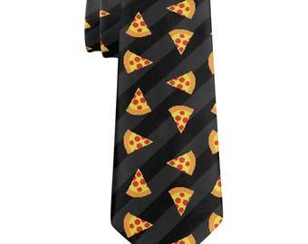 Pizza 8-Bit All Over Neck Tie