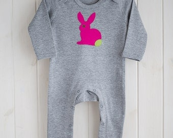 Baby Rabbit Applique Sleepsuit - Babygrow - Sleepsuit - Baby Girl - Baby clothing - Baby Girl clothing - Nightsuit - Baby Clothes - Girls