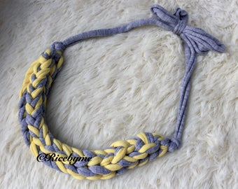 Minimalist Hand knitted Necklace