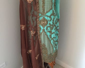Beautiful kameez with tulip pants.