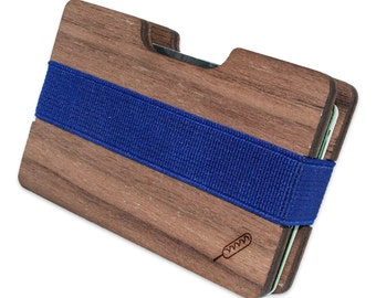 Corndog Slim Minimalist Wooden Wallet. Handmade And Laser Engraved. Made in the USA.