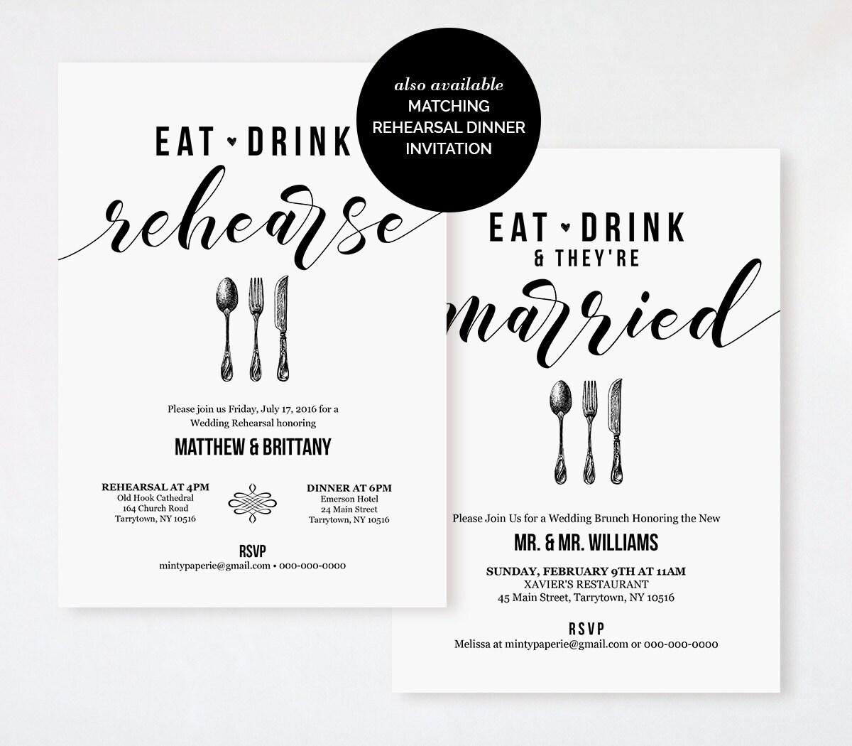 post wedding brunch invitations. wedding invitations by lavender, Wedding invitations