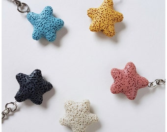 Diffuser star shaped Keychain keyring diffuser bag diffuser aromatherapy