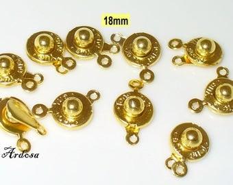 10 standards 18mm gold (K117. 17)