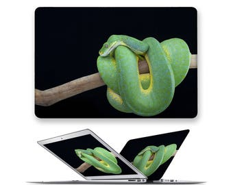 macbook air hard case rubberized front hard cover for apple mac macbook air pro touch bar 11 12 13 15 snake