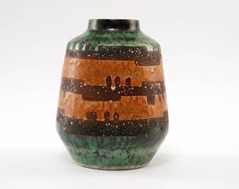 VEB HALDENSLEBEN Form 304 Green Brown Vintage Ceramic East Germany