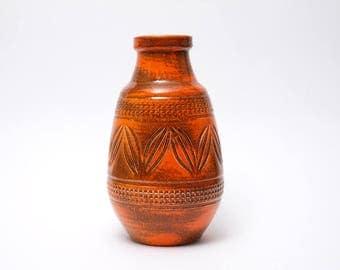 J.D. KLINKER Ceramic Vase West Germany 1960s/1970s Vintage Mid Century Handmade