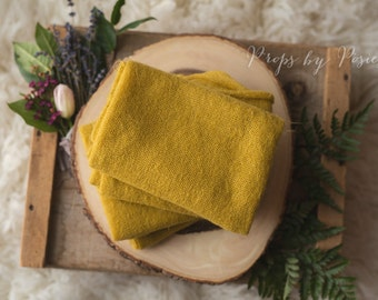 Newborn Photography Prop - Primrose Yellow Mohair Stretch Wrap/Layer